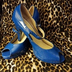 126d3e82913 Women s Blue Qupid Platform Heels on Poshmark